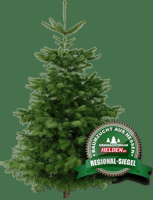 Weihnachtbaum Helden Nordmanntanne mit Regional-Siegel