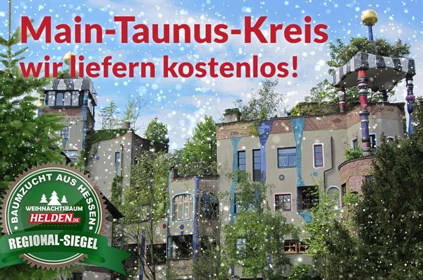 Weihnachtsbaum Helden liefern kostenlos im Main-Taunus-Kreis