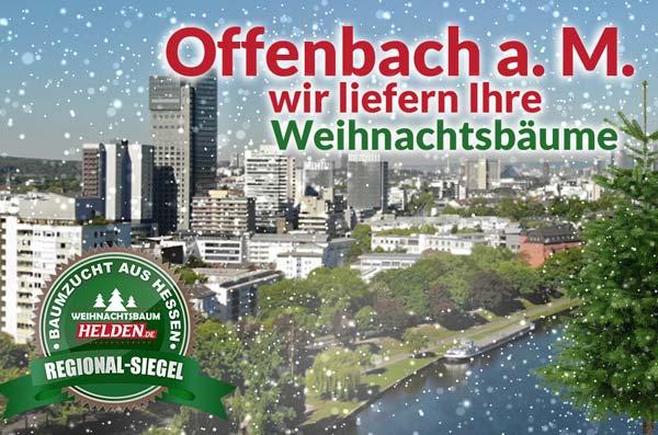 Weihnachtsbaum Lieferung in Offenbach am Main